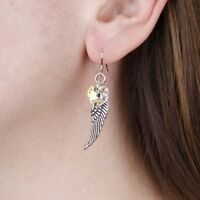Angel Wing Earrings Aurora Borealis Woodstockchimes made with Swarovski Crystals