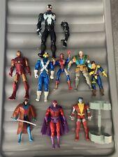 Vintage Marvel Figure Bundle Lot Iron Man Spiderman X Men Venom