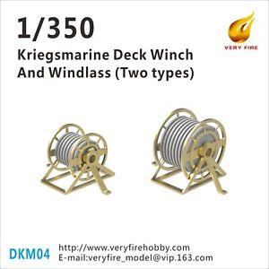 Very Fire 1/350 Kriegsmarine deck winch and windlass 2 types (22 sets) DKM04