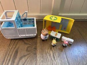 Peppa Pig Mobile Medical Centre Ambulance Dr Brown Bear Teddy Nirse Peppa Figure