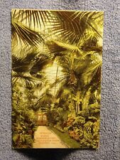 Vintage Postcard Interior Scene Conservatory, Washington Park, Chicago, Ill.