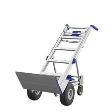 Convertible Heavy Duty Hand Truck 3 In 1 Dolly Aluminum 4 Wheel Cart 1000 Lb Hd