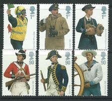 GREAT BRITAIN 2009 ROYAL NAVY UNIFORMS SET OF 6 SINGLES UNMOUNTED MINT, MNH