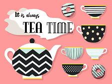 It 's Always Tea Time, retro metal sign vintage/MAN CAVE/Kitchen/cafe