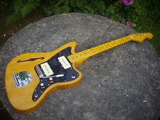 "Jazzmaster Custom Guitar-construir-Thinline Estilo-J. Mascis Pickups-natural"" - Libre P&P"