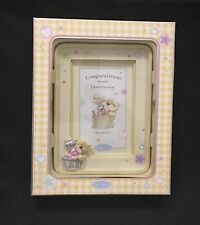 Resin Picture Frame for Special Occasion - Christening Photo Holder