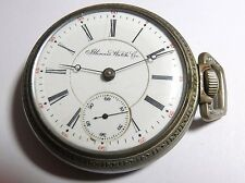 ANTIQUE 1903 SPRINGFIELD ILLINOIS 15'J POCKET WATCH 18'S SILVER TONE LEVER SET