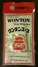 DYNASTY WONTON SOUP BASE MIX   5/.28oz pkgs  QUICK & EASY!