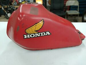HONDA XL 500R FUEL TANK UNRESTORED OEM 1982 INCLUDES PETCOCK AND CAP