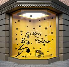 CHRISTMAS SHOP WINDOW STICKERS xmas tree window sticker MERRY CHRISTMAS  N111