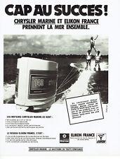 Publicité Advertising 097  1979   Chrysler Marine  moteur bateau Elikon