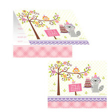 Happi Woodland Girl Forest Animals Birthday Party Supplies Invitations