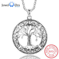 925 Sterling Silver Tree of Life Necklace Women Pendant Chain Mothers Day Gift