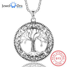 Tree of Life Mom Necklace 925 Sterling Silver Pendant Jewelry Gift For Women