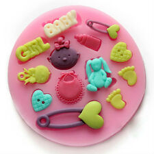 13 Patterns Silicone Mold Mould For Clay Candy Fondant Cake Cook Bake Craft DIY