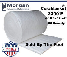 "Ceramic Fiber Insulation Blanket Wool High 2400F 1/2""x12""x24"" #8"