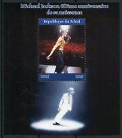 Chad 2018 CTO Michael Jackson 1v M/S I Popstars Music Celebrities Stamps