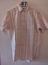 """(27) Men's Linea short sleeve striped shirt XL 48"""""""