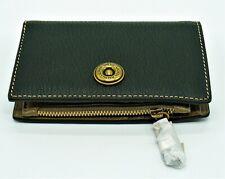 5220e39d39 NWT Ralph Lauren Millbrook Compact Wallet Clutch Black Leather Womens Zip  Purse