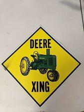 Vintage John Deere Xing Sign