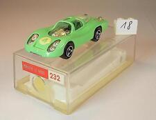 Majorette 1/65 Nr. 232 Porsche Le Mans Rennwagen hellgrün OVP #018