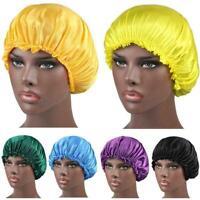 Adjustable Women Satin Silk Sleeping Cap Night Sleep Best Gift Care Hat Cap L5A6