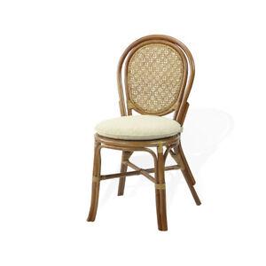Denver Dining Side Chair Handmade Design Wicker Rattan, Colonial