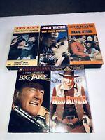 John Wayne Lot Of 5 Classic VHS Tapes Movies John Wayne Western Adventure W3