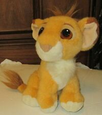 "LION KING Plush PURRING Baby SIMBA stuffed doll sit 9"", Disney 1993 Mattel RARE"