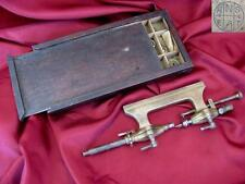 19C. ANTIQUE WATCHMAKERS LATHE & TOOL BOX MARKED