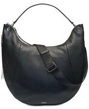 DKNY Tompson Large Hobo  Black Pebble Leather Crossbody Women's Handbag - New!