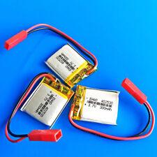 3 PEZZI 300 mAh 3.7 V LiPo Batteria per MP3 MP4 SMART WATCH 402530 SYP Connettore 2pin