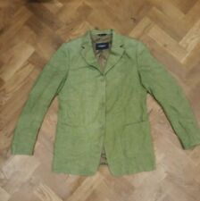 Burberry London Women's Green Flax Linen Lakeside Blazer Jacket Size UK 14 EU 42