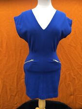 FRENCH CONNECTION Georgia jersey cobalt colour dress , size 4.