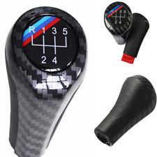Carbon Fiber Look Leder 5 Gang Schaltknauf Griff Für BMW 1 3 5 6 Serie X1 X3 X5