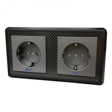 Furutech FT-SWS-D NCF Double Rhodium Schuko Wall Socket
