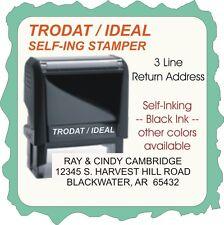 Return Address Custom Text Aerial Font Trodat 4900 Self Ink Rubber Stamp
