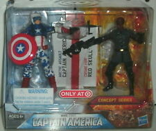 MARVEL - CAPTAIN AMERICA  & RED SKULL - CONCEPT SERIES - TARGET EXCLUSIVE