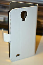 White Genuine Leather Wallet Case Cover for Samsung Galaxy S4 i9500 i9505 LTE 4G