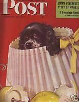 1946 Saturday Evening Post Feb 23-Butch breaks the lamp