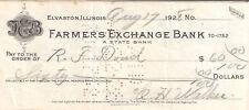 35) ASSEGNO  FARMERS EXCHANGE BANL DEL 1928