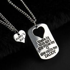 DADDY'S GIRL 2 PIECE NECKLACE SET FATHER DAUGHTER GIFT CHARM PENDANT SET #KC15