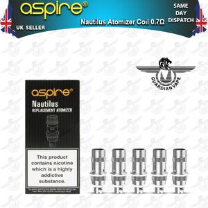 ASPIRE NAUTILUS BVC VAPE COILS 0.7 OHM – PACK OF 5