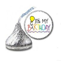 108 IT'S MY BIRTHDAY Party Favors Stickers Labels for Hershey Kiss
