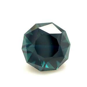1.59ct Dark Green Blue Sapphire, Australia, Unheated Natural Gemstone *Video*