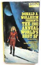 THE 1981 ANNUAL WORLD'S BEST SF Donald Wollheim DAW 432 Sci Fi Anthology 1ST gga