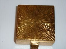 Vintage Evans Gold Tone Metal Cosmetic and Cigarette Case with Wrist Strap