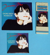 LOT 1 vinyle 45 tours, 1 K7 2 titres, 1 CD single de Jeanne MAS Dors bien MARGOT