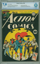 Action Comics 52 CBCS 7.0 FN/VF WHITE PAGES DC 1942 WWII Cover