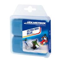 Holmenkol Ultra Mix Blue Ski Snowboard Wax 70g Cold Tuning